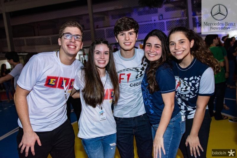 Marcelo Araujo, Livia Costa, Paulo Henrique, Leticia Timbo e Larissa Jacome