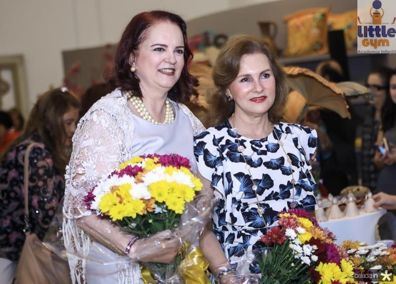 Ethel Whitehurst e Renata Jereissati