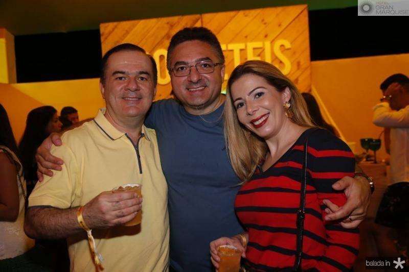 Ronaldo Aragao, Guarany Montalverne e Lilia Aragao