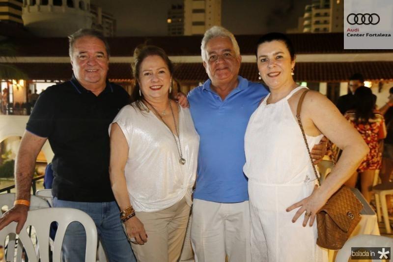 Chiquinho e Cristina Aragao, Marcilio e Silvinha Fiuza