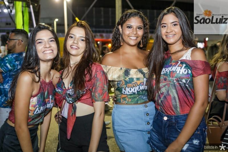 Sara Barbosa, Andresa Rodrigues, Clara Damaceno e Vitoria Silva