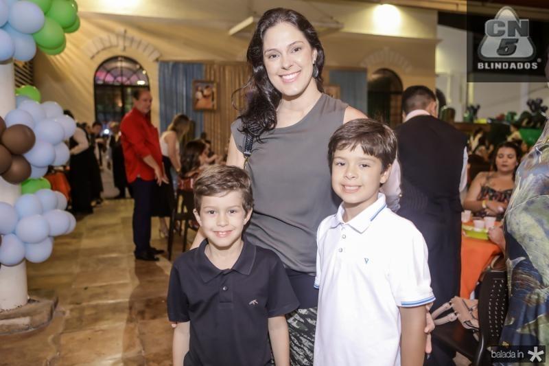 Felipe, Paula e Leonardo Leal