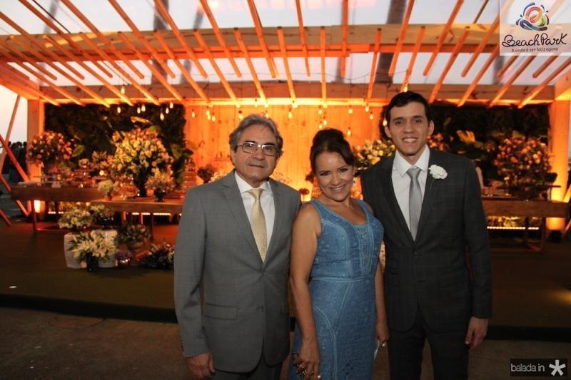 Francisco, Ligia e Marcelo Andrade