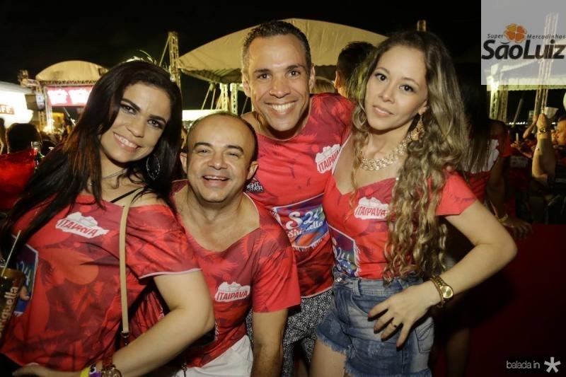 Haline e Antomario da Hora, Clecio e Joana Fernandes