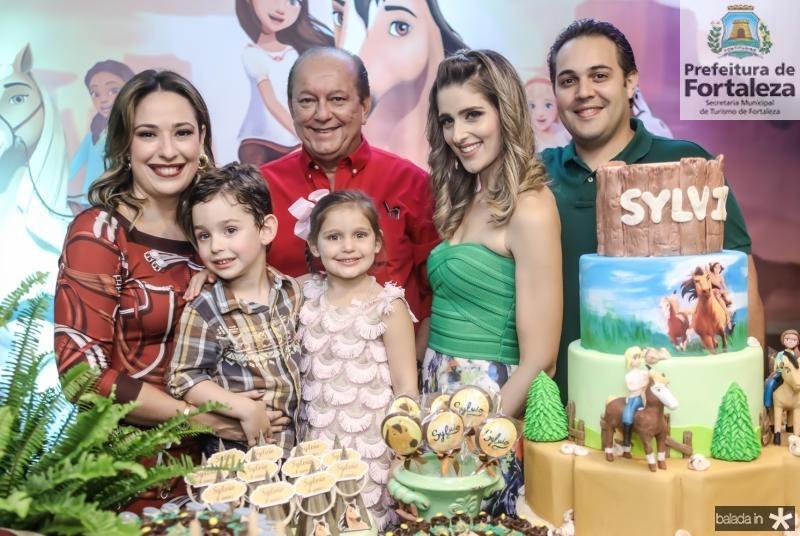 Silvinha, Sylvio e Rafael Leal, Athina, Rebeca e Bruno Bastos