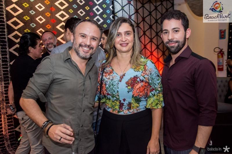 Vinicius Lima, Edmara Carvalho e Renan Dib