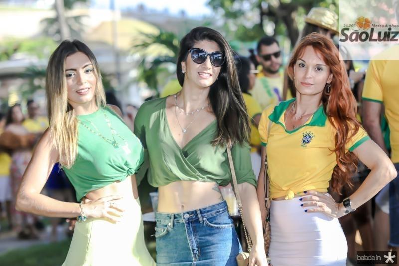 Luciana Cardoso, Barbara Roriz e Layle Thais