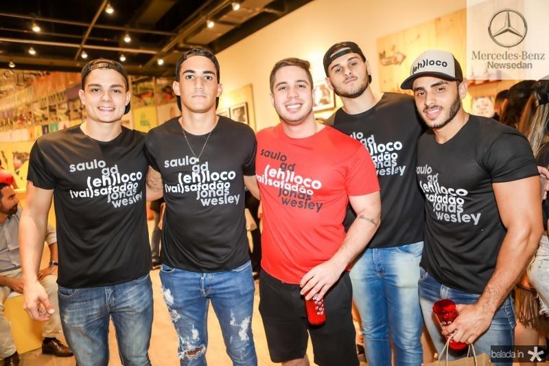 George Sales, Paulo Lucas, Jose David, Gabriel Bessa e Mateus Calaço