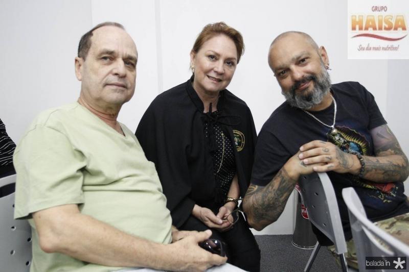 Elian Machado, Paula Frota e Fabio Lima