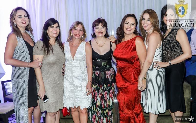 Fatima Santana, Denise Pinheiro, Eveline Pinheiro, Cris Leite, Denise Cavalcante, Marcia Andrea e Romina Cavalcante