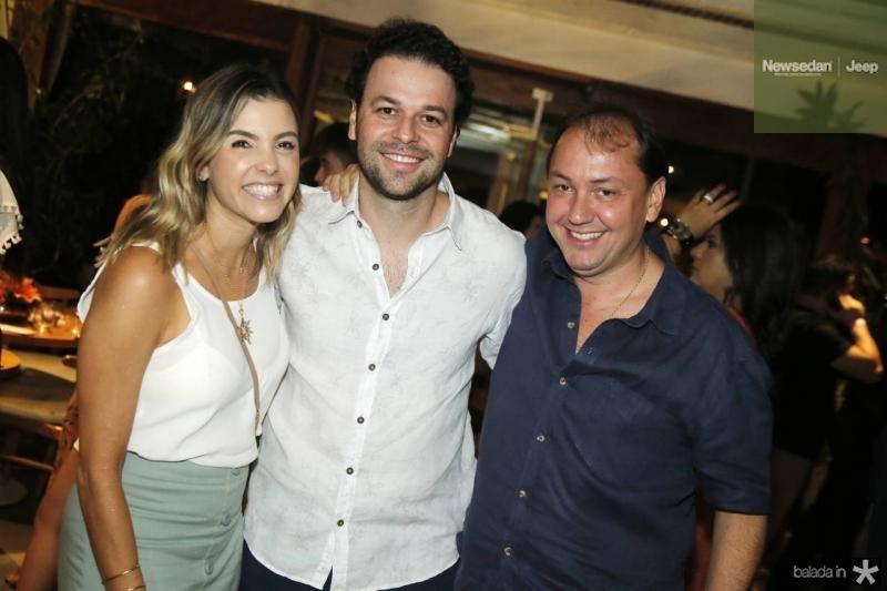 Liliane e Geraldinho Rola e Ariston Araujo