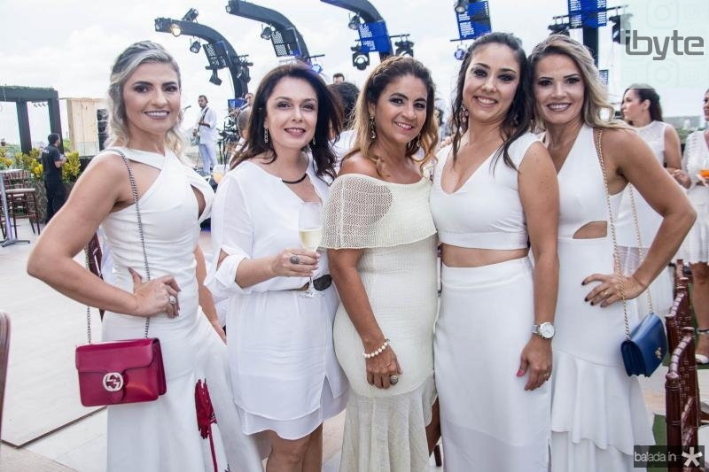 Edneide Pinheiro, Susana Pires, Fabiana Barreira, Luciane Kimura e Rita Rios