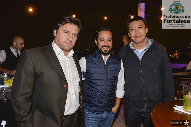 Henrique Funari, Fabio Cruz e Inacio Sung