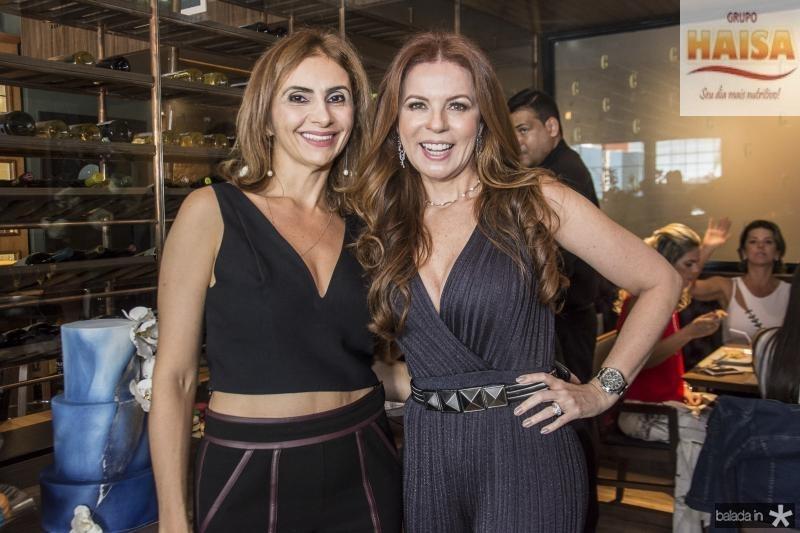 Lucivania Sabino e Claudia Quental
