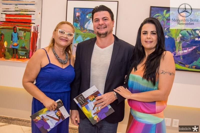Regina Vasconcelos, Alex Moreira e Sarita Furtado