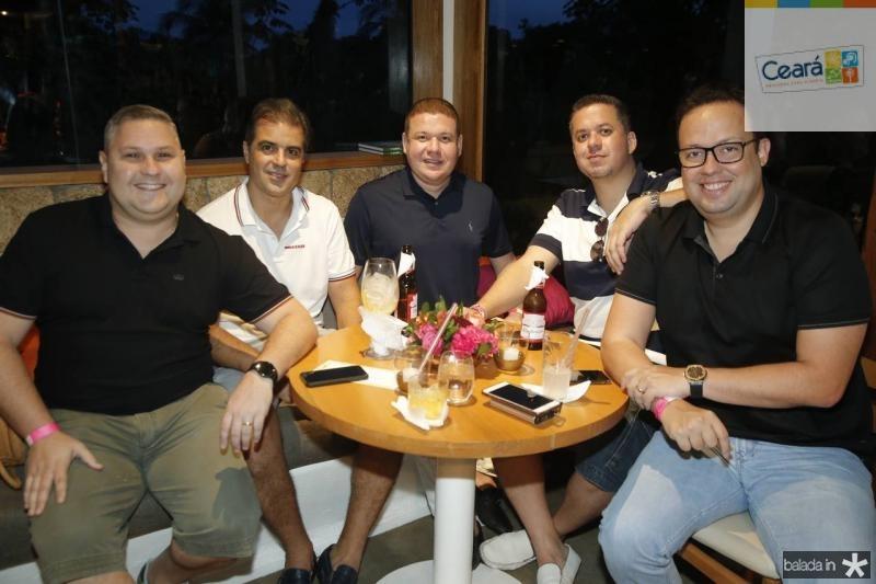 Carlos Henrique, Germano Pessoa, Rodrigo Souza, Rafael Loureiro e Daniel Joca