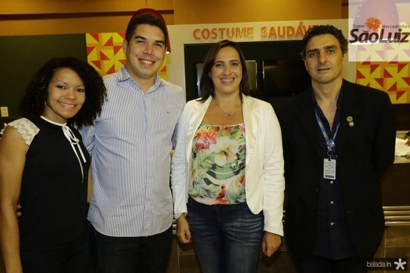 Camila Honorato, Renan Pinheiro, Andrea Fiuza e Carlos Soares