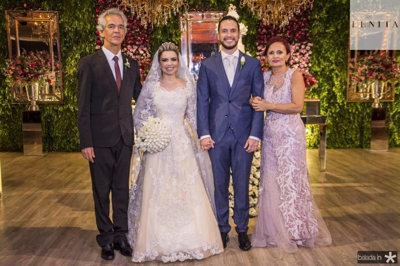 Roberto Cabral, Diandra Alves, Roberto Cabral e Nadja Cabral
