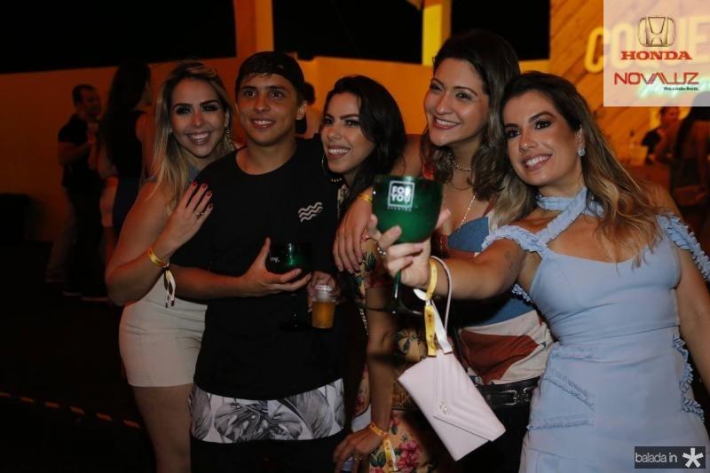 Carol Nogueira, Roney Oliveira, Jordana Lima, Paula Garcia e Karine Mota