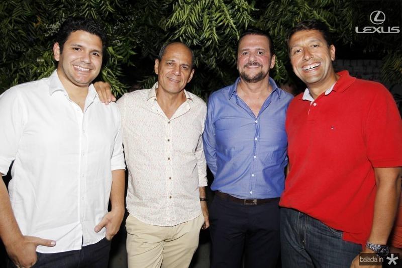 Eduardo Camara, Mano Alencar, Adrisio Camara e Gony Arruda