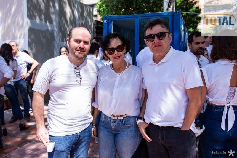 Roberto Pamplona, Kacy Saldanha e Geraldo Sousa