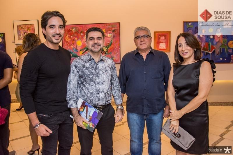 Rodrigo Porto, Isaac Furtado, Adonis Oliveira e Solange Porto
