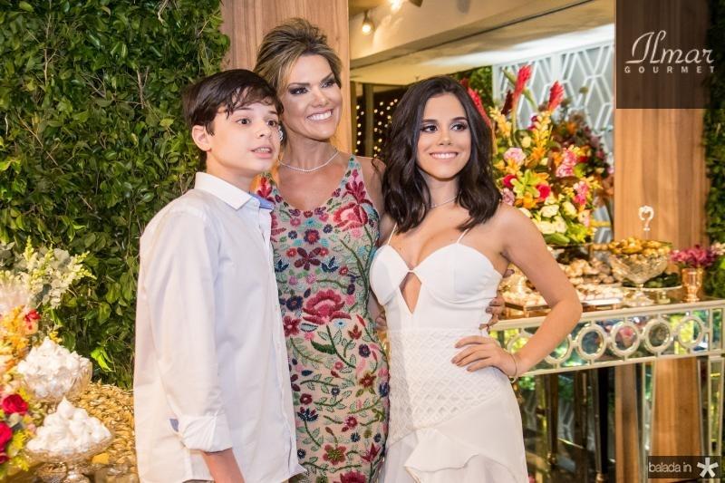 Cristiano Filho, Pauliani Campos e Cristiane Cruz