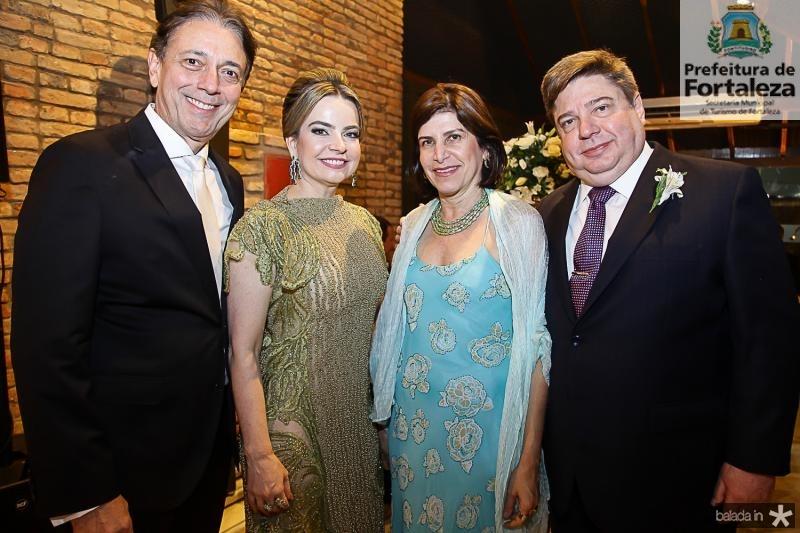 Afranio e Daniele Barreira, Marieta e Raul Araujo