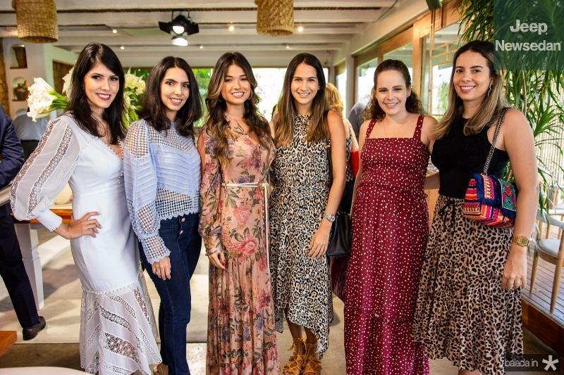 Flavia Laprovitera, Carla Laprovitera, Luma Sales, Mariana Brasil, Maina Bezerra e Antonieta Lima