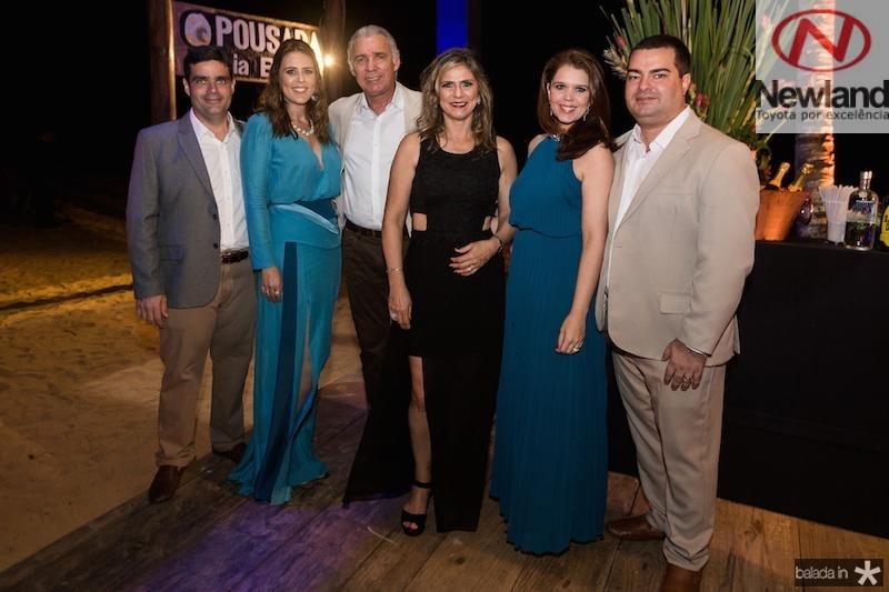 Stenio e Raquel Pimentel, Osvaldo Studart e Lola Pimentel, Geovana e Rodrigo Pimentel