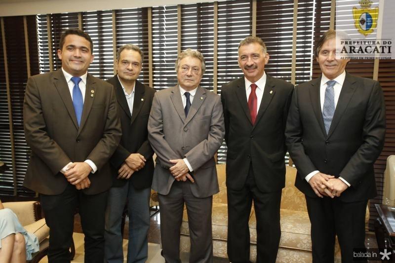 Yuri Guerra, Paulo Henrique Lustosa, Euvaldo Bringel, Artur Bruno e Eunicio Oliveira