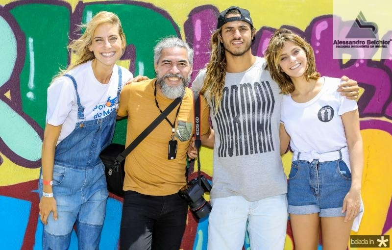 Dani Gondim, Rogerio Lima, Caio Vaz e Isabella Santoni