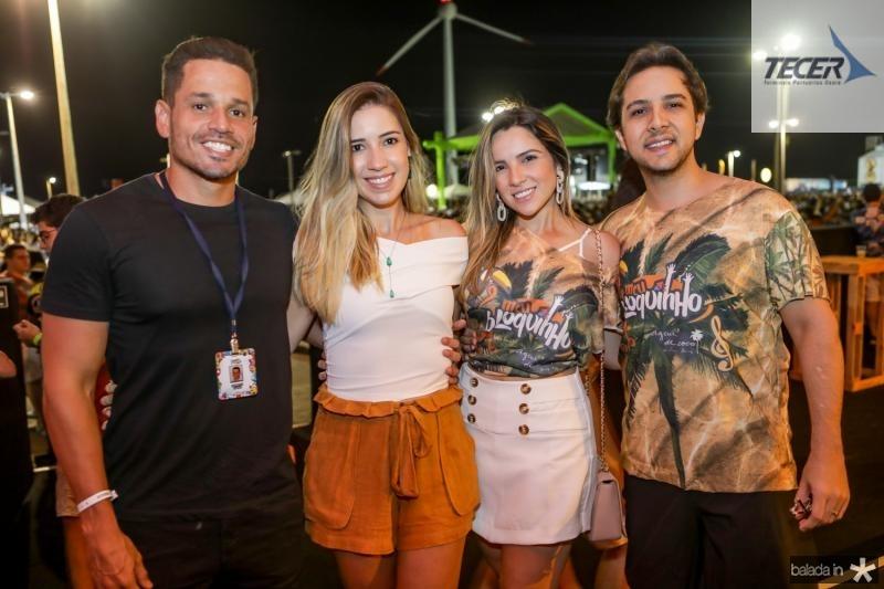 Rafael e Liana Sa, Lina Ponte e Diego Cahu