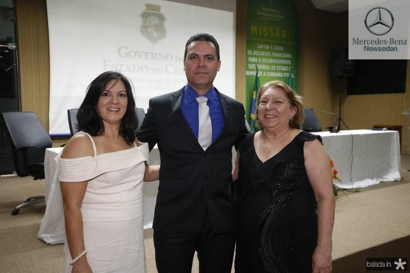 Sheila, Alexandre e Neide Possidonio