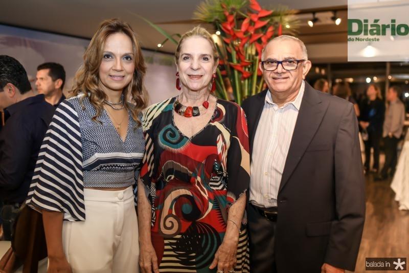 Cristina Tavares, Anya Ribeiro e Augustinho Coelho