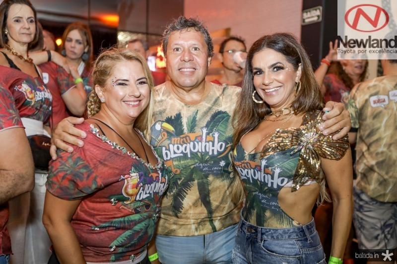 Beth Pinto, Paulo Ronqueyrol e Cristina Pinto