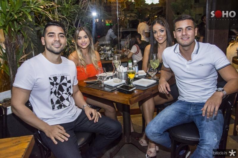 Henrique Viana, Gabriela Liro, Ingrid Peixoto e Rafael Dourado