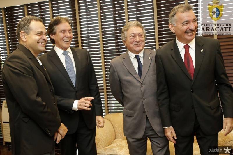 Paulo Henrique Lustosa, Eunicio Oliveira, Euvaldo Bringel e Artur Bruno