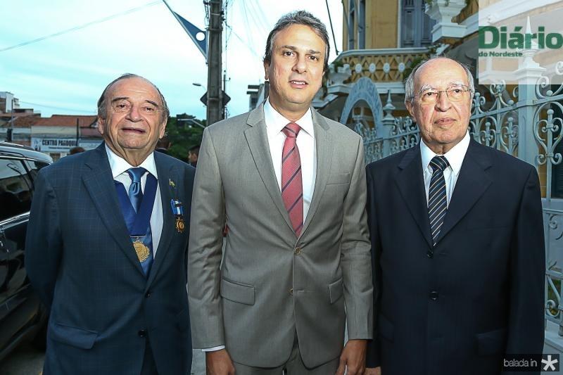 Ednilo Soares, Camilo Santana e Lucio Alcantara