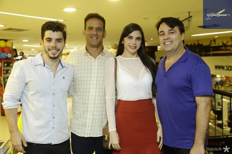 Alvaro Chaves, Ronaldo Leitao, Mikaela Ferreira e Max Trigueiro