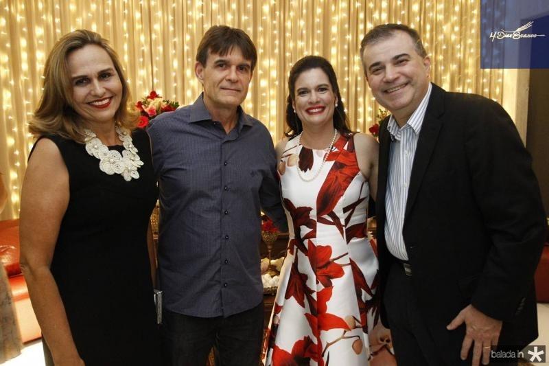 Rossana e Luiz Moreira de Sousa, Luciana e Ricardo Bezerra