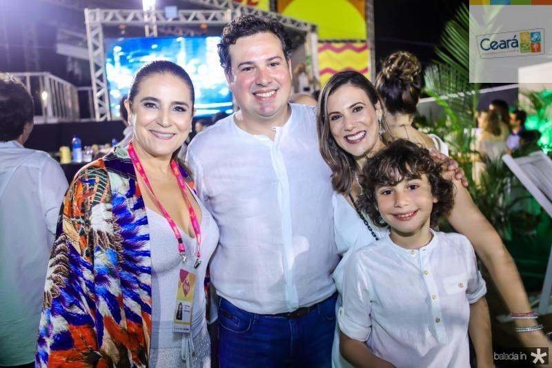 Patricia Macedo, Samuel, Erica e Pedro Dias