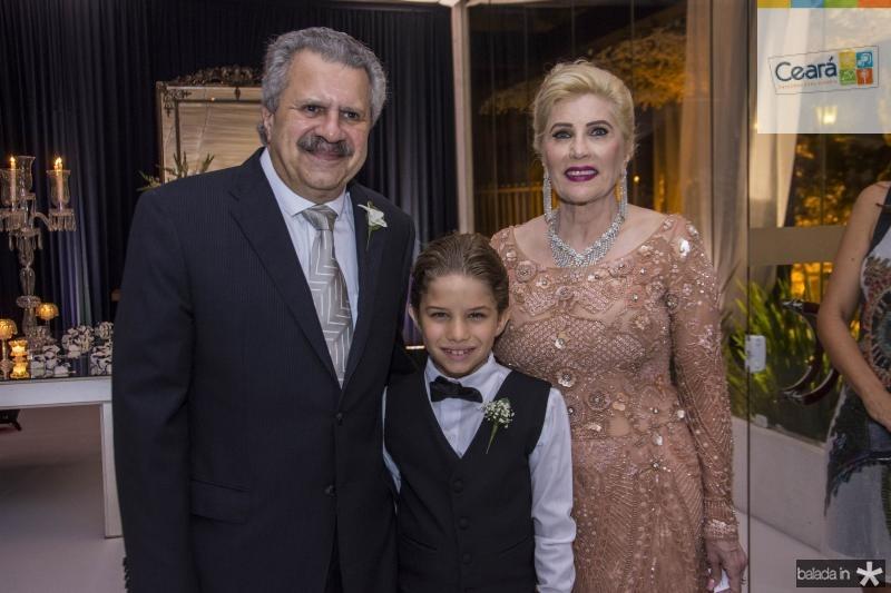 Pedro Felipe, Bruno Filho e Ines Borges
