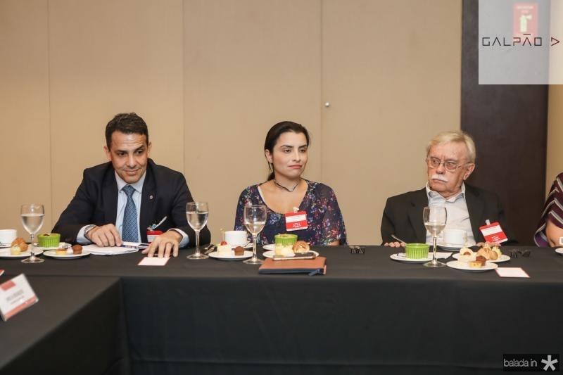 Raul Amaral, Carolina Ragazzi e Raimundo Padilha