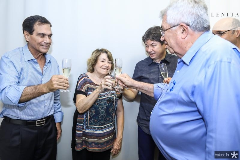Beto Studart, Cidonia Pereira, Edigar Gadelha e Roberto Macedo