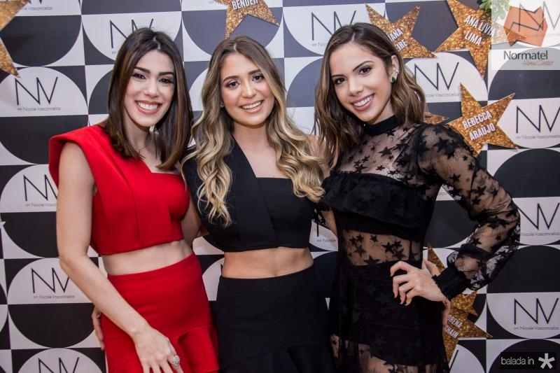 Juliana Cordeiro, Natalia Bender e Nicole Vasconcelos