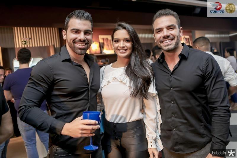 Charles Feijo, Tamylle Oliveira e Daniel Coimbra
