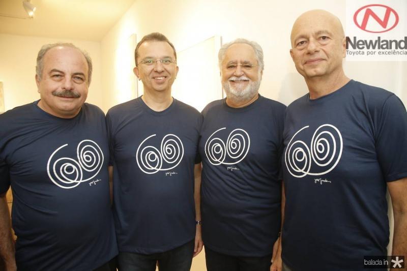 Ademar Gondim, Marco Oliveira, Alfredo Turbai e Demetrio Jereissati
