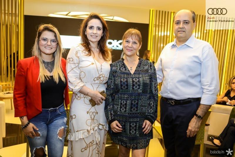 Amanda Fernandes, Isabela Fontenele, Marli Mendes e Izauro Fontenele