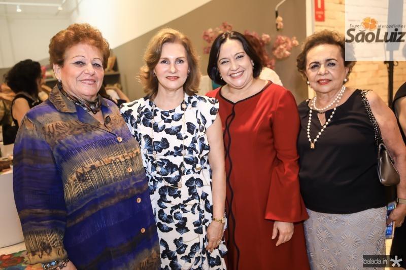Catarina Marino, Renata Jereissati, Norma Zelia e Eliane Castro